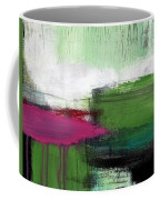 Spring Became Summer- Abstract Painting  Coffee Mug by Linda Woods