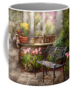 Spring - Bench - A Place To Retire  Coffee Mug by Mike Savad