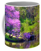 Spring Blossoms On Lake Marmo Coffee Mug