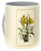 Spring Bouquet Of Daffodils And Narcissus With Butterfly Vertical Coffee Mug