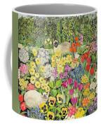Spring Cats Coffee Mug by Hilary Jones