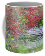Spring Color Over Japanese Garden Bridge Coffee Mug