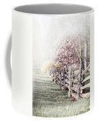 Spring Landscape With Fence Coffee Mug