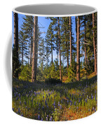Spring Lupines In The Forest Coffee Mug