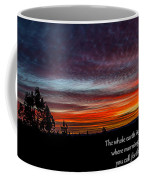 Spring Peaceful Morning Sunrise Bible Verse Photography Coffee Mug