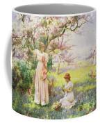 Spring   Picking Flowers Coffee Mug