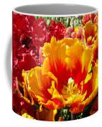 Spring Tulip Flowers Art Prints Yellow Red Tulip Coffee Mug