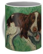 Springer Spaniel With Shoe Coffee Mug
