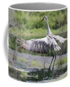 Springing Sandhill Crane Coffee Mug