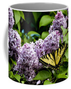 Springtime Lilac And Butterfly Coffee Mug