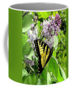 Springtime Moments- The Butterfly And The Lilac  Coffee Mug
