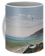 Squadron Of Pelicans Central Califonia Coffee Mug
