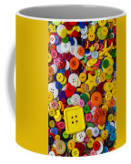 Square Button Coffee Mug by Garry Gay