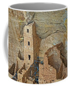 Square Tower House Closeup On Chapin Mesa Top Loop Road In Mesa Verde National Park-colorado Coffee Mug