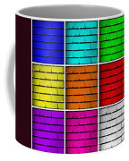 Squared Color Wall  Coffee Mug by Semmick Photo