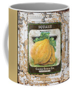 Squash On Vintage Tin Coffee Mug