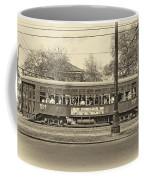 St. Charles Ave. Streetcar Sepia Coffee Mug