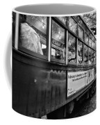 St. Charles Ave Streetcar Whizzes By-black And White Coffee Mug