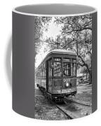 St. Charles Streetcar 2 Bw Coffee Mug