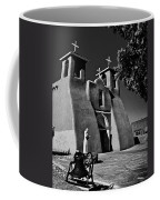 St Francis In Black And White Coffee Mug
