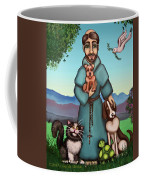 St. Francis Libertys Blessing Coffee Mug by Victoria De Almeida