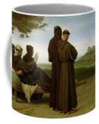 Saint Francis Of Assisi, While Being Carried To His Final Resting Place At Saint-marie-des-anges Coffee Mug