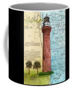 St Johns River Lighthouse Fl Nautical Chart Map Art Cathy Peek Coffee Mug
