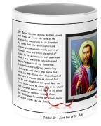 St. Jude Patron Of Hopeless Cases - Prayer - Petition Coffee Mug by Barbara Griffin