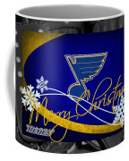 St Louis Blues Christmas Coffee Mug