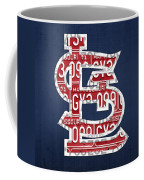 St. Louis Cardinals Baseball Vintage Logo License Plate Art Coffee Mug
