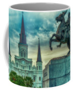 St. Louis Cathedral And Andrew Jackson- Artistic Coffee Mug
