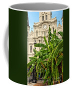 St. Louis Cathedral And Banana Trees New Orleans Coffee Mug