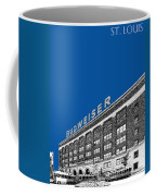 St Louis Skyline Budweiser Brewery - Royal Blue Coffee Mug by DB Artist