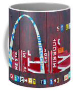 St. Louis Skyline License Plate Art Coffee Mug by Design Turnpike