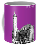 St Louis Skyline Union Station - Plum Coffee Mug