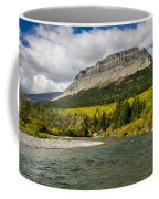St. Mary River And East Flattop Mountain Coffee Mug