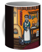 St. Pascual Making Bread Coffee Mug by Victoria De Almeida
