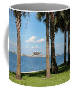 St Pete Pier Through Palm Trees Coffee Mug