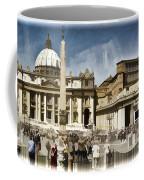 St Peters Square - Vatican Coffee Mug by Jon Berghoff