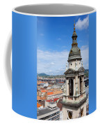 St Stephen's Basilica Bell Tower In Budapest Coffee Mug