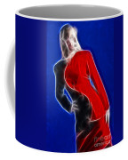Stacey Red And Black Fractal Coffee Mug