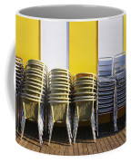 Stacks Of Chairs And Tables Coffee Mug by Carlos Caetano