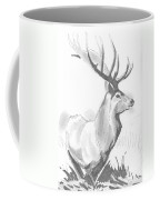 Stag Drawing Coffee Mug