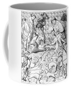Stag Hunters, 15th Century Coffee Mug