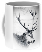 Stag In Black And White Coffee Mug
