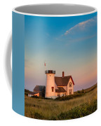 Stage Harbor Lighthouse Square Coffee Mug by Bill Wakeley