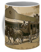 Stagecoach In Old West Arizona Coffee Mug