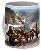 Stagecoach Near Upper Falls Coffee Mug