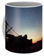 Stagecoach Riding Off Into The Sunset Coffee Mug