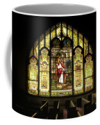 Stain Glass Behold I Stand At The Door And Knock Coffee Mug